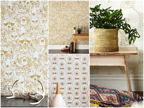 idee tapisserie chambre decoration cuisine avec papier peint