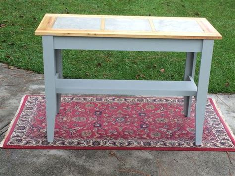buy  hand crafted console table  inlaid ceramic tile