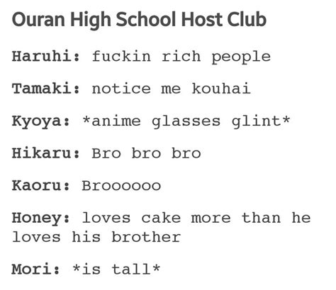 17 Best Images About Ouran Highschool Host Club On. Pizza Signs. Eps Signs Of Stroke. Hysterical Signs Of Stroke. Right Lung Signs. Main Signs. 1st Floor Signs. R Mca Signs. Masjid Signs Of Stroke
