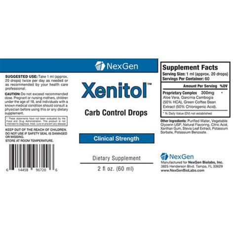 Xenitol   2016 Top Carb Blocker Supplement