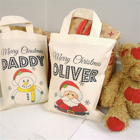 personalised christmas tote bag by tailored chocolates and