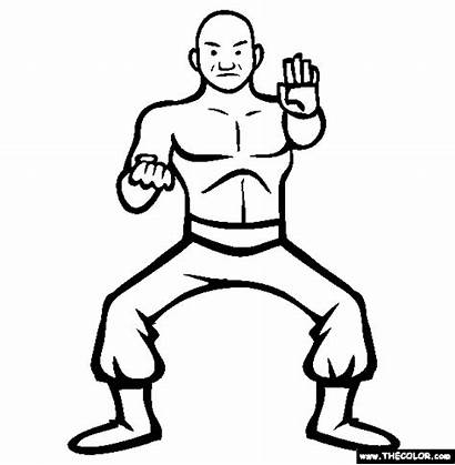 Coloring Pages Wrestler Pro Sting Wwe Shaolin