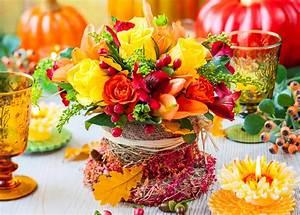 Blumen Im November : herbstliche tisch dekoration ~ Lizthompson.info Haus und Dekorationen