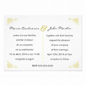 wedding invitations in spanish wording hnc With wedding invitation for manager