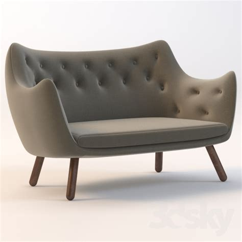 Finn Juhl Sofa by 3d Models Sofa Finn Juhl Poet Sofa