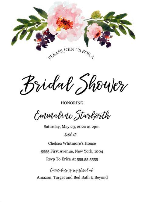 print  wedding shower invitation template