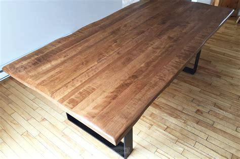 fa軋des de cuisine sur mesure charmant modele de table de cuisine en bois 10 table sur mesure selena en bois massif fabriquée au québec atlub com