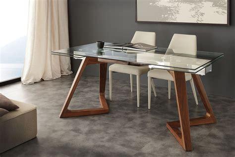 tavoli massello allungabili tavolo allungabile in noce massello acciaio e vetro spoleto