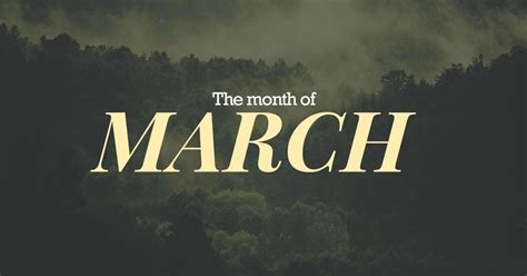March  Third Month Of The Year