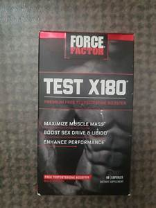 Force Factor Test X180 Premium Testosterone Booster  60 Capsules  2021