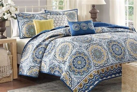 King Size Bed Coverlet by King Size Bedding 6 Coverlet Set Bedspread Blue