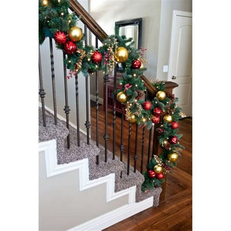 lighted garland for staircase 1000 images about christmas staircase on pinterest red