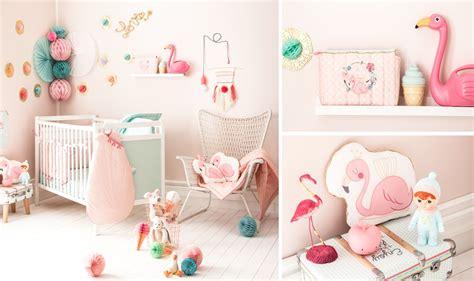 chambre flamant thème de chambre bébé fille flamant crevette
