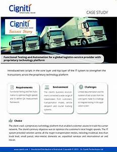 Functional Testing and Automation for a global logistics ...