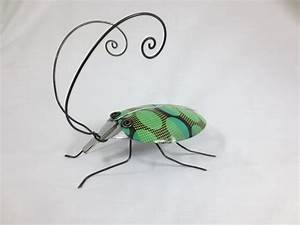 Figuren Aus Schrauben : green funky spoon beetle with crazy wing casings repurposed art via etsy bug me ~ Orissabook.com Haus und Dekorationen