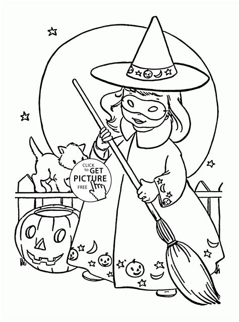 cute  witch coloring pages  kids halloween