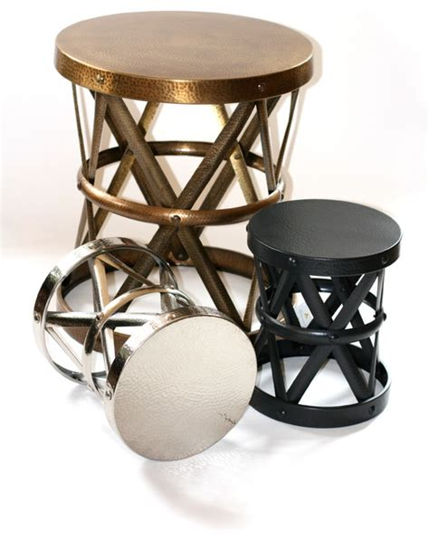 metal side stool contemporary accent and garden stools