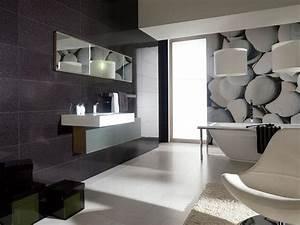 carrelage de salle de bains 57 idees pour les murs et le sol With salle de bain design avec cadres décoratifs pour salon