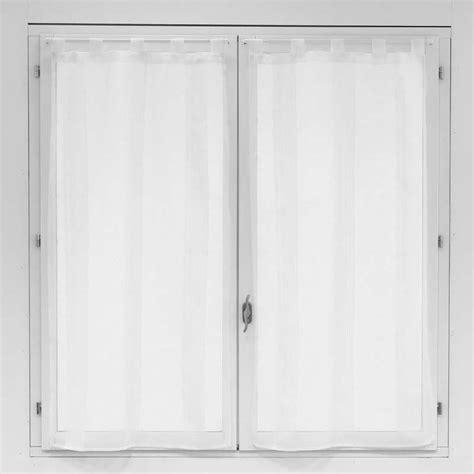 voilage porte fenetre cuisine paire de voilages pour fenêtre blanc 60x120cm