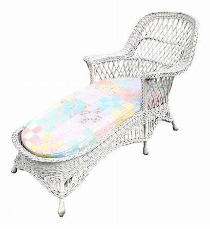 Chaise Wicker Lounge Cushion Chairish