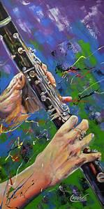J'ai fait trois œuvres en gros plan sur différentes parties de la clarinettes On utilise la