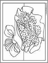 Coloring Pages Bouquet Flower Daisies Asters Daisy Pdf Colorwithfuzzy sketch template