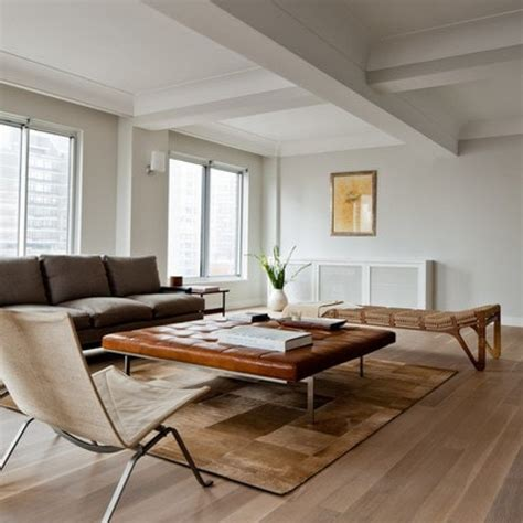 Brown Living Room Floor Ls by Contemporary Living Room Wtih White Oak Flooring Furnished