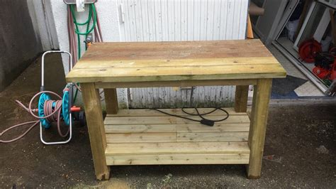outdoor workbench  wandk  lumberjockscom