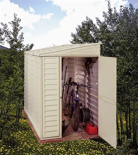 4x8 Wood Storage Shed by Duramax 4x8 Sidemate Vinyl Shed With Foundation 06625