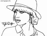 Swift Coloring Taylor Pages Malfoy Singer Draco Printable Drawing Country Famous Hat Popular Drawings Colorings Colouring Sheets Easy Chuck Getcolorings sketch template