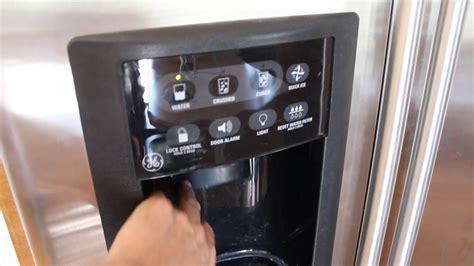 fix  ge  door water  ice dispenser youtube