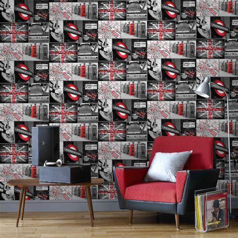 tapisserie chambre fille ado papier peint papier travel gris leroy merlin