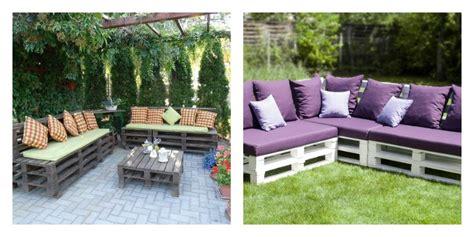 canapé avec palette le salon de jardin en palette en plus de 110 idées originales