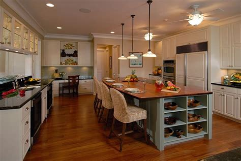 kitchen island with open shelves open shelving for the kitchen island gives it