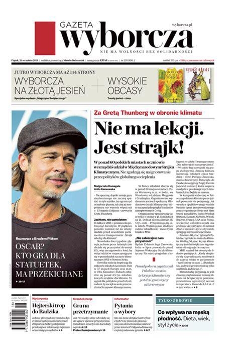 e-Kiosk.pl - Gazeta Wyborcza (Stołeczna) 20.09.2019 (220)