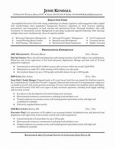 chef resume objective free excel templates With chef resume template free