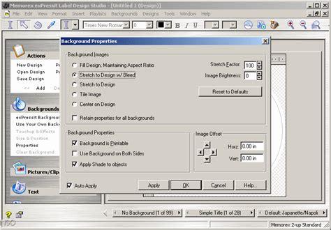 memorex expressit label design studio memorex expressit label design studio software informer