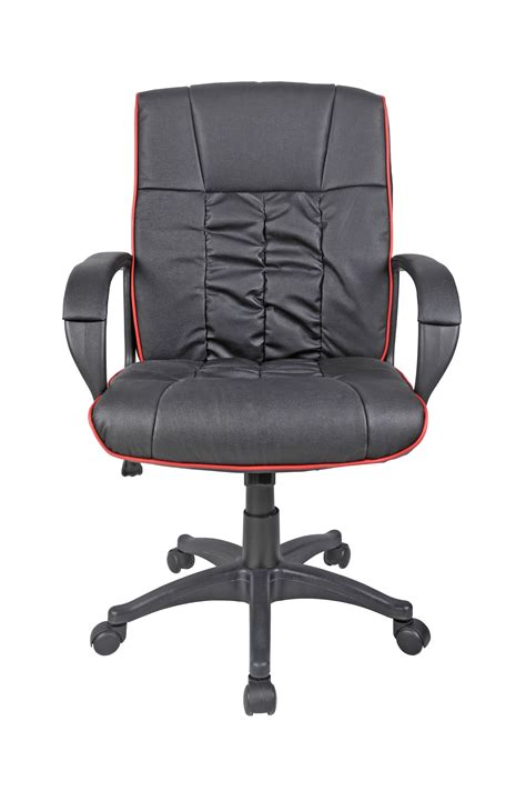 cow split leather high back office chair pc computer desk