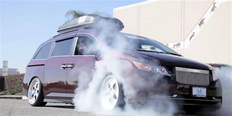 Missed out on our story about the search for the legendary la voiture noire? What Happens When A Minivan With More Horsepower Than A Bugatti Veyron Does A Burnout | HuffPost