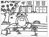 Colorear Dibujos Jardines Jardinero Dibujo Pintar Coloring Plantas Coloriage Jardinier Plant Jardin Cycle Imagenes Animales Imprimir Profesiones Colorir Jardim Imagens sketch template