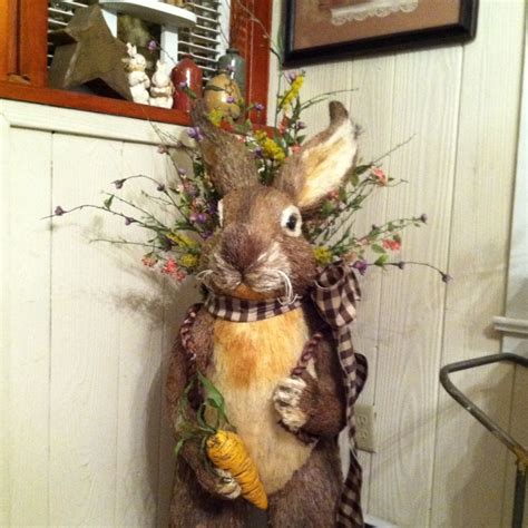 my life size garden bunny primitive easter decor