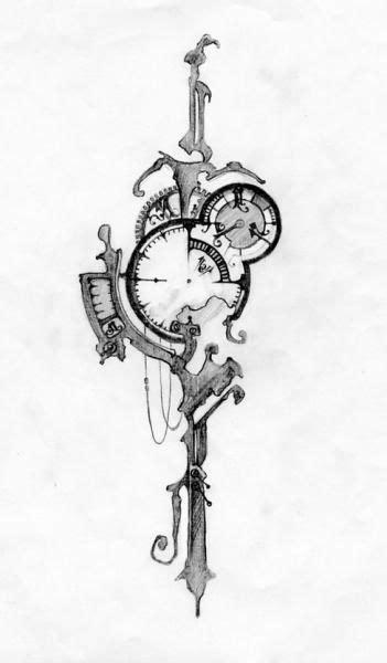 black watercolor steampunk tattoos - Google zoeken | Tattoo designs, Watch tattoos, Key tattoos