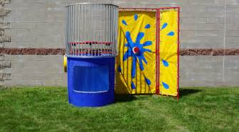 rent a party tent dunk tank rental iowa city cedar rapids ia towable