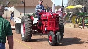 1953 Farmall Super M Acting As The Sled Pull