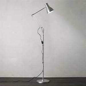 standing lamps With anglepoise type 75 floor lamp silver