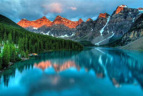 alberta, pievilcība, banff, banff nacionālais parks, skaists, zils, klusums, Kanāda, mākoņi ...