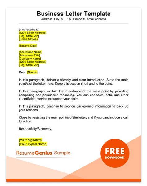 standard business letter template design templates