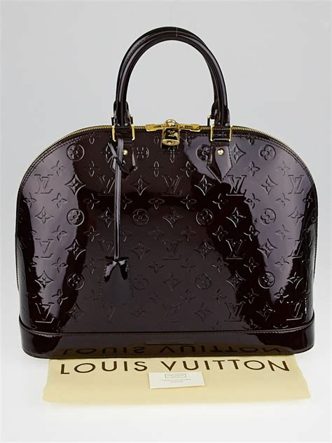 louis vuitton amarante monogram vernis alma gm bag yoogi