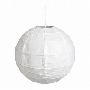 Suspension Boule Japonaise : boule japonaise abat jour de suspension rond en papier blanc diam tre 60cm habitat ~ Voncanada.com Idées de Décoration