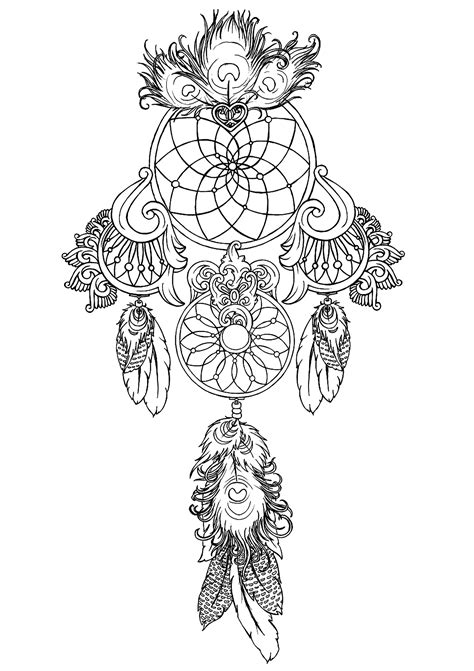 Dreamcatcher to print 1 - Dreamcatchers Adult Coloring Pages